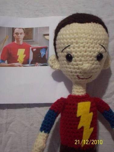 Crochet Sheldon Cooper! Awesome!!