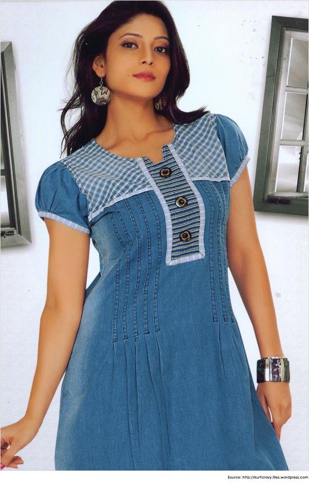 Fashionable Collar Neck Designs for Kurtis   Kurti Designs