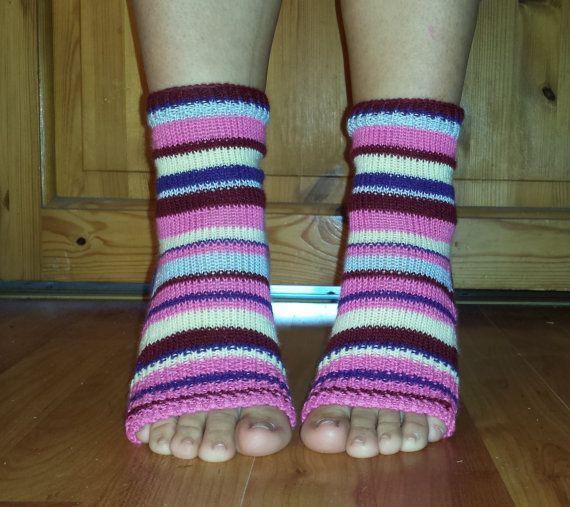 YOGA Socks Knitted Toe Heel Less Socks PiYo Socks by BareWolfSocks
