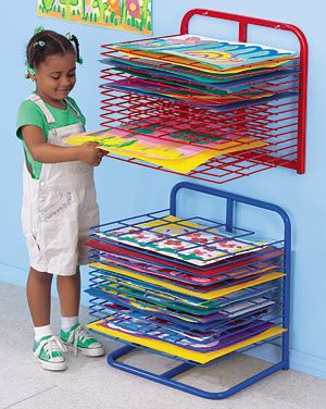 Lakeshore Drying Racks at Lakeshore Learning- Wall mounted one is only $99!