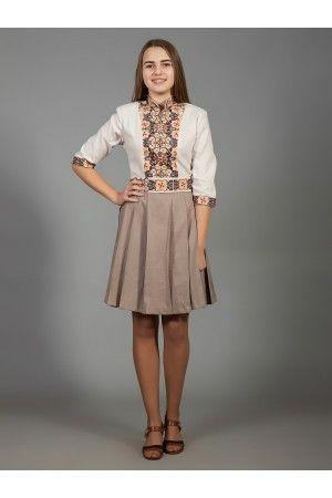 Оригінальна лляна сукня  натуральний льон двох кольорів b47a93d472f83