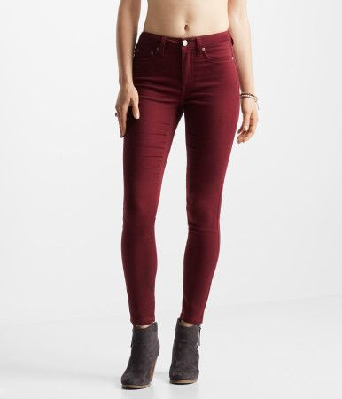 """Treat yourself to the freshest style around: our Seriously Stretchy Color Wash High-Waisted Jegging! Silky-smooth fabric keeps you comfy, while the solid hue is fun to flaunt. Zip fly. 70% cotton, 29% polyester, 1% spandex. Machine wash/dry.<br><br>Color wash<br>Figure hugging<br>Classic back pocket embroidery<br>Extremely soft stretch fabric<br>Approx. inseam: 29""""; Rise: 10""""<br>Model height: 5'x"""" 
