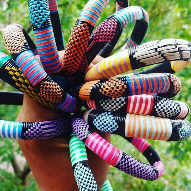 Love my Mali Bangles by @kalonkreations ❤ #colorfull and #fun #kalonkreations…