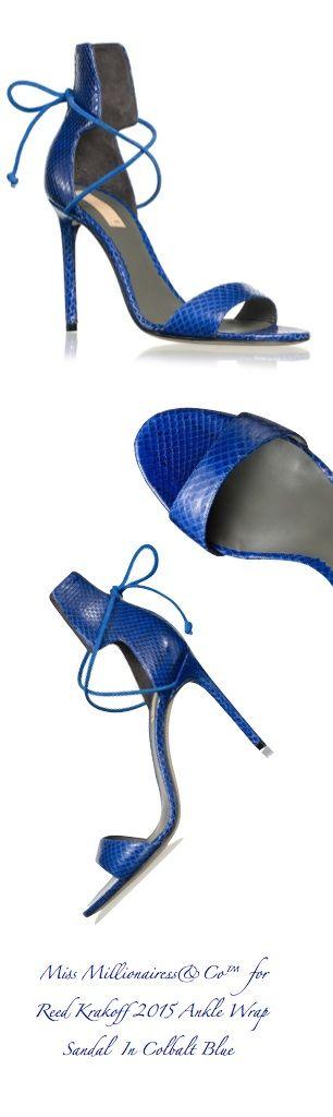 Reed Krakoff 2015 Ankle Wrap Sandal In Colbalt Blue