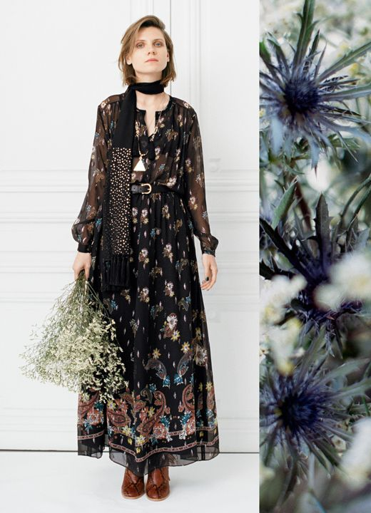 Opulent lace and femme florals carry us to a place of nostalgic elegance,  gracefully announcing the twilight of autumn.