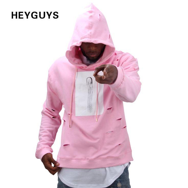 2016 hot mens hip hop rosa hoodies suor terno agasalho hoodies dos homens com o buraco moda masculina inverno conjunto masculino streetwear em Hoodies & Camisolas de Dos homens de Roupas & Acessórios no AliExpress.com | Alibaba Group