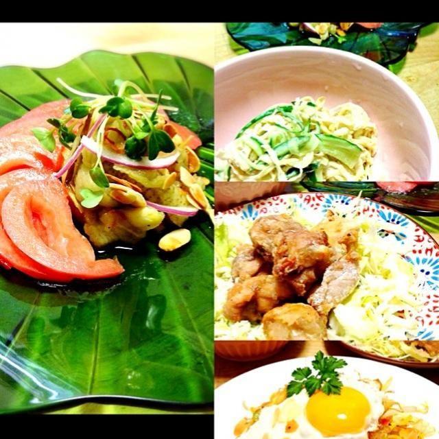 咲きちゃんの焼きナスのベトナム風マリネ、いつ作ろうかと狙ってました!( ☆∀☆) エスニックなメニューにぴったりのひと皿です 甘酸っぱくて美味しいー 咲きちゃん、つくフォトの呼び鈴、夜中にごめんなさい!スルーしちゃってもオッケーです とっても美味しかったですナスがお安くなったらたくさん作りたいです  他には、 切り干し大根とキュウリのサラダ とりナンプラー揚げ ミーゴレン を作りました\(^o^)/ - 111件のもぐもぐ - 咲きちゃんさんの料理 焼きなすのベトナム風マリネ by かず