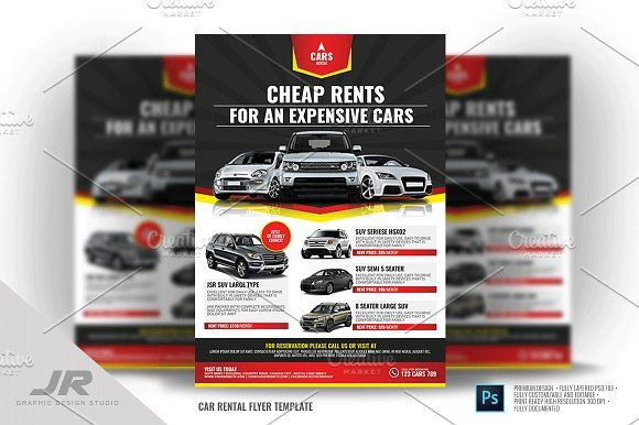 Car Rental Services Flyer @creativework247