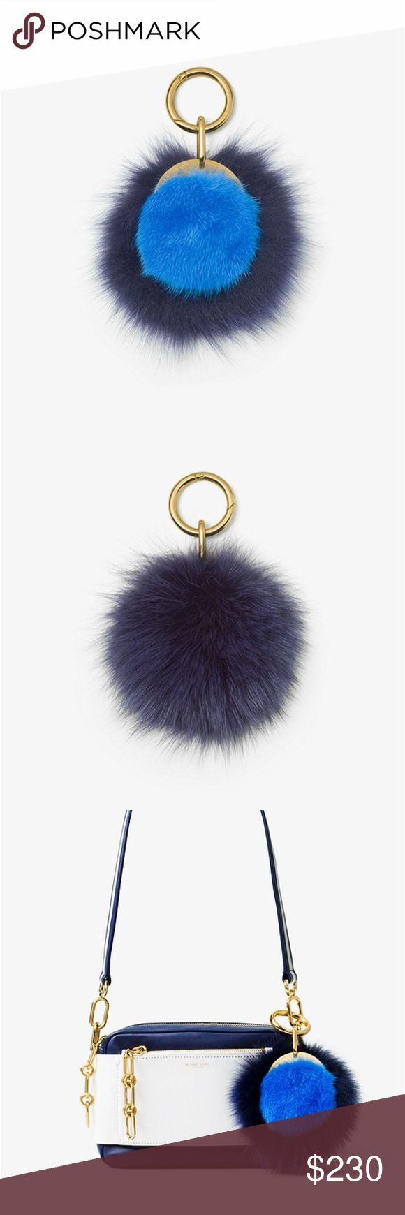 """NWT MICHAEL KORS Mink Fur Charm Crafted from luxe mink fur, this eye-catching charm will add a dose of rich texture to your everyday accessories. Clip it on to the season's neutral shoulder bags, or better yet, gift it to a friend.  DETAILS -100% Dyed Mink Fur  -Palladium Plated Hardware  -Dimensions: 5""""W x 5.5""""L x 3""""H  -Fur Origin: USA Michael Kors Jewelry"""
