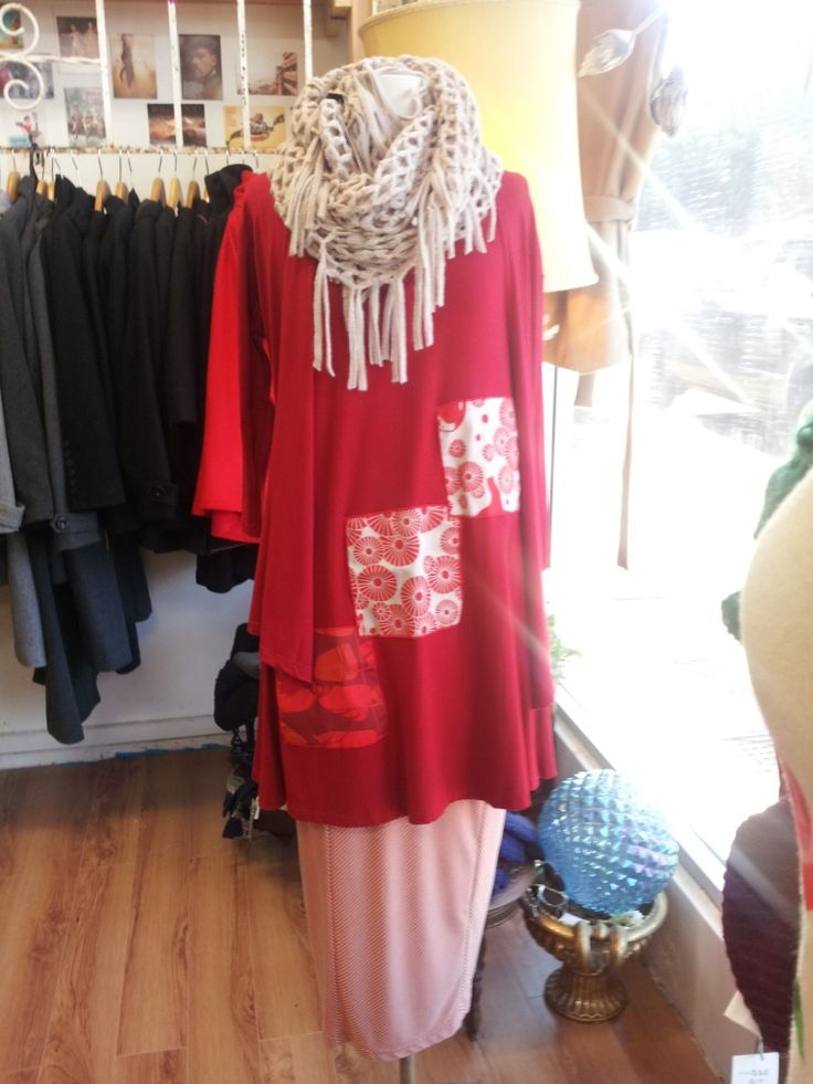 Red patch tunic