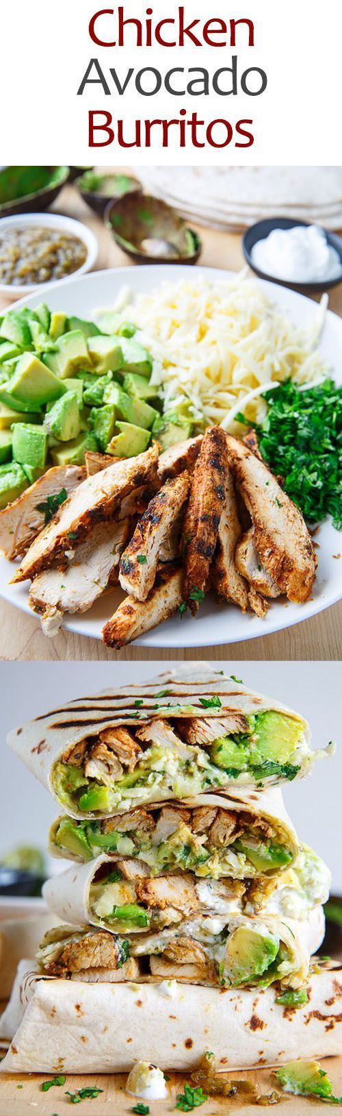 Chicken and Avocado Burritos Healthy Recipes – avocado, food, healthy, recipes -…