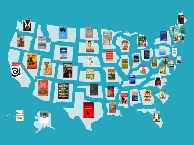 These are the most famous books set in each state