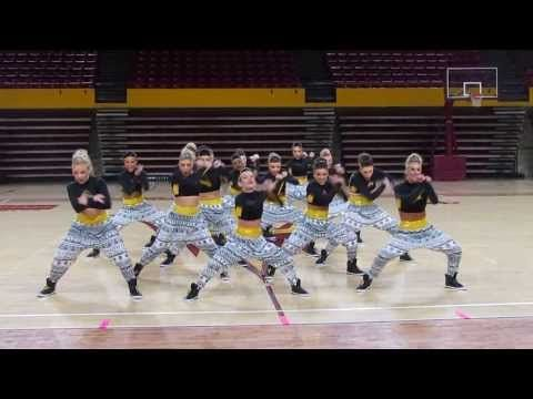 ASU Dance Team- Hip Hop 2014 - YouTube. Pinning this because it has some cool tricks we could use for our journalism and yearbook dance,