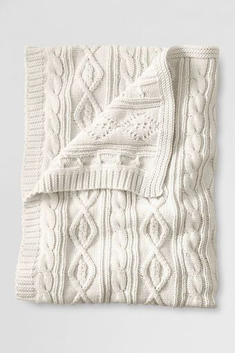 Lakeland Cotton Cable Throw from Lands' End. Would love one in ivory for the living room. $62 on sale