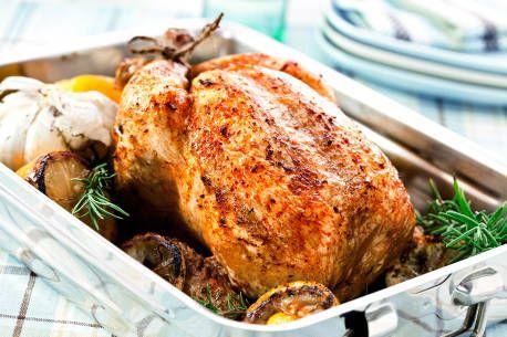 Helstekt kylling med 40 hvitløksfedd og sitron