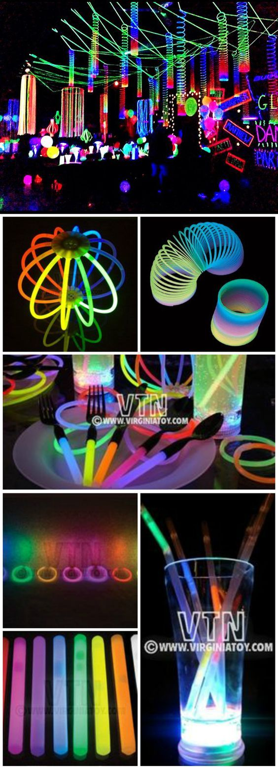 1000 ideas about glow party decorations on pinterest for Glow in the dark centerpiece ideas