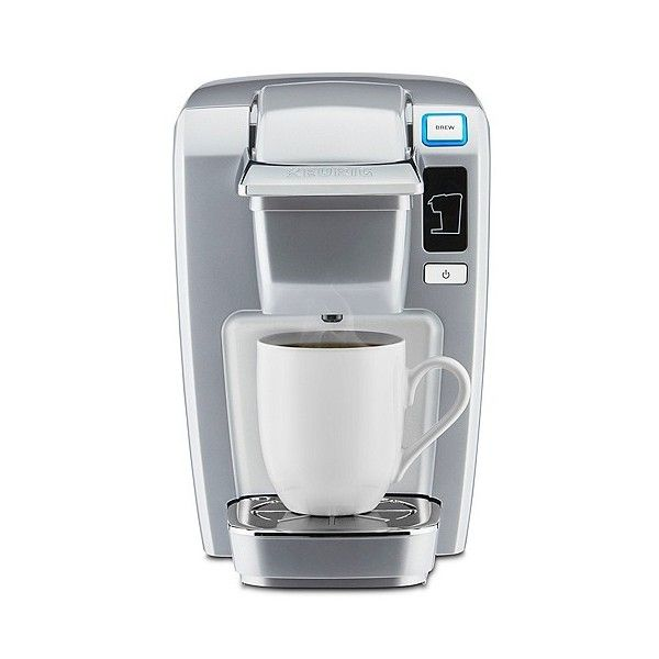 Keurig K15 Coffee Maker Platinum ($70) ❤ liked on Polyvore featuring home, kitchen & dining, small appliances, white, coffee machine, single serve coffee brewer, keurig coffee brewer, keurig coffee maker and filter coffee maker