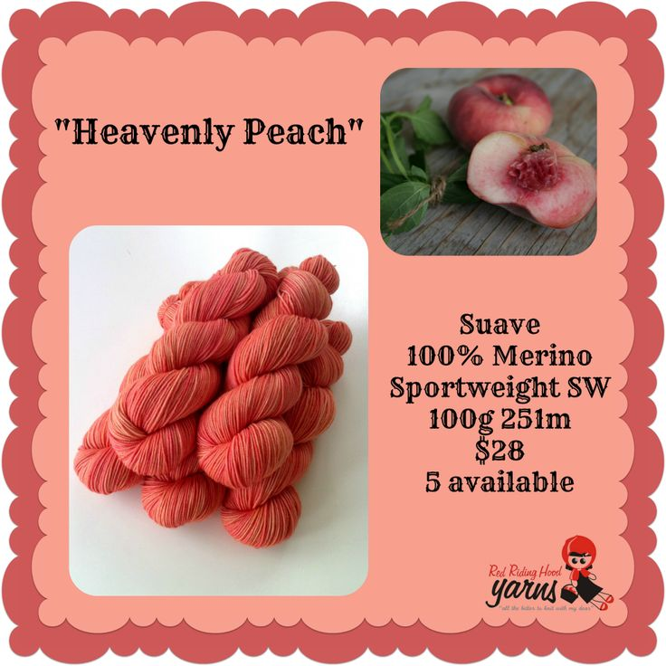 Heavenly Peach - Summerfruits Stocking | Red Riding Hood Yarns