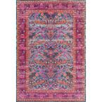 Persian Floral Yoshie Pink 5 ft. x 7 ft. 5 in. Area Rug
