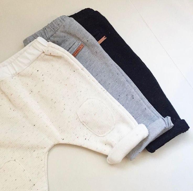 Patch Pants 3 colors | Nixnut Baby & Kids label