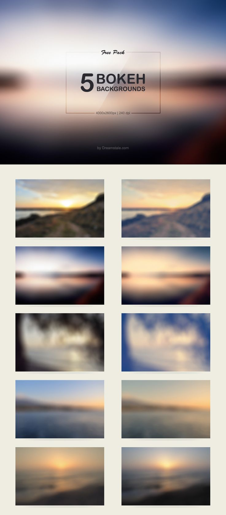 5 Free Bokeh Backgrounds - top right blurred mountain... for bottom of website maybe ... with writing on top
