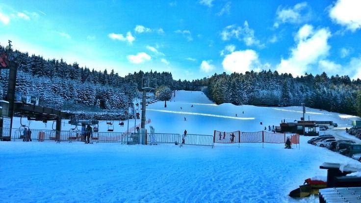 Beautiful day to skiing