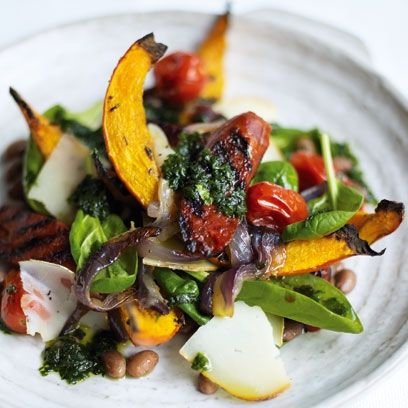 Hot Chorizo Salad With Butternut Squash. Best winter salad recipes | Healthy winter recipes - Red Online www.redonline.co.uk