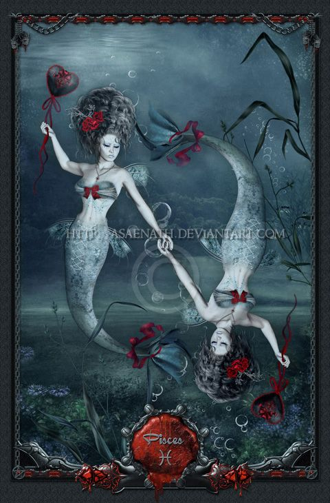 Gothic Zodiac: Pisces by UnholyVault on DeviantArt