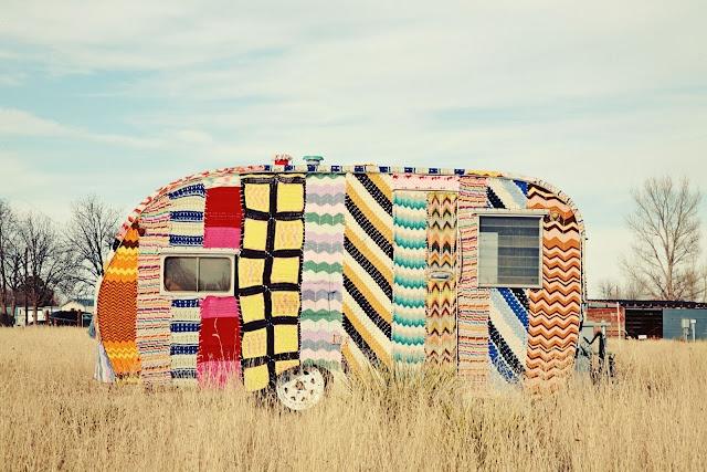 Crochet Caravan by Magda Sayeg