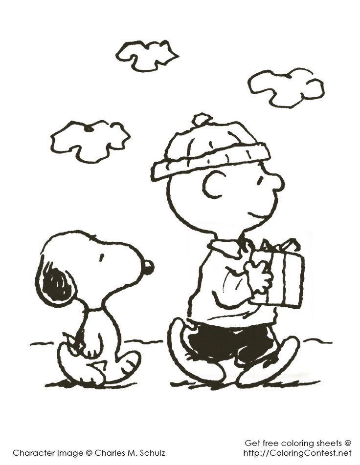 charlie brown christmas coloring pages - Peanuts Characters Coloring Pages