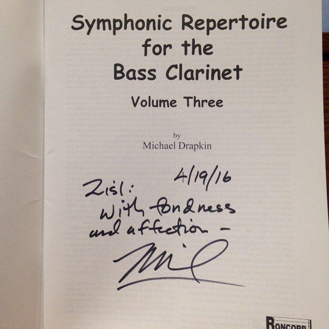 Got this from my cousin Michael Drapkin today in mail. Feeling warm and happy. Family friends clarinet mafia :) cherish this a lot. #bassclarinet #michaeldrapkin #sheetmusic #family #woodwindartist #bassklarinette #clarone #symphonicrepertoire #symphonic #clarinet #reeds by zslep