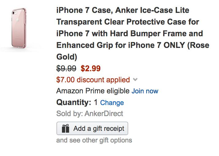 AnkerDirect via Amazon is offering a handful of iPhone 7 and Galaxy S8 cases for $  2.99 Prime shipped when an item-specific promo code is applied during checkout. The iPhone cases have a 4.5/5 star rating while its new S8 options have solid early scores as well. Both models have a clear finish...