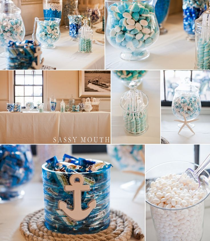 Blue and White Candy Bar Seaside Wedding Inspiration Nautical Mystic Seaport Wedding - Sassy Mouth - Jennifer and Mike - CT