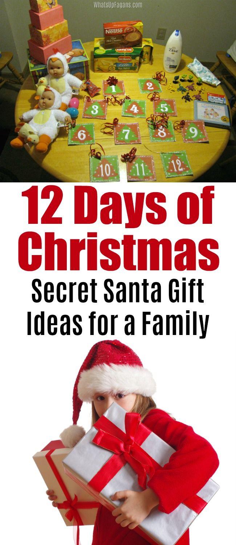 12 Days Of Christmas Secret Santa Gift Ideas 12 Days Of Xmas Secret Santa Gifts Santa Gifts
