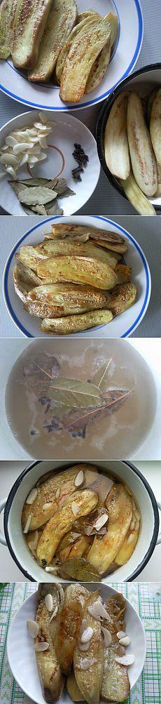Вкусные маринованные баклажаны.