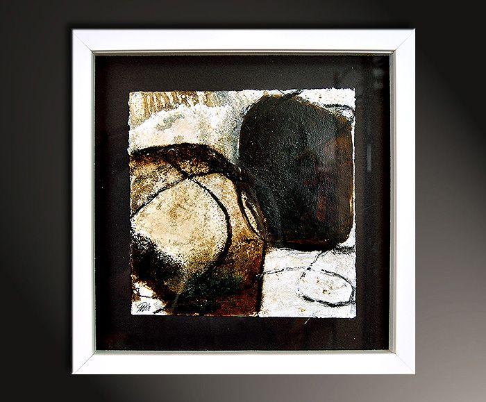 "Kunst Bilder kaufen, Manuela Pilz: ""Spurensuche II"" - Abstrakte Kunst Galerie Inspire ART"