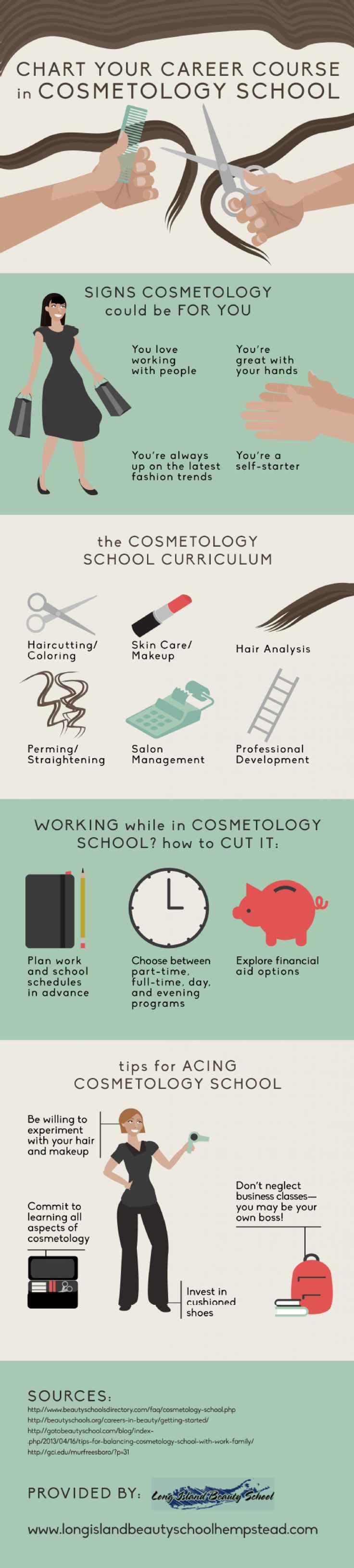 Chart your career course in cosmetology school