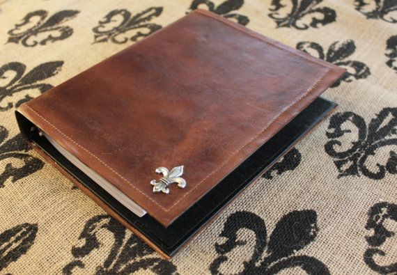 Leather Binder small Personalized Leather by ParagonLeatherWorks