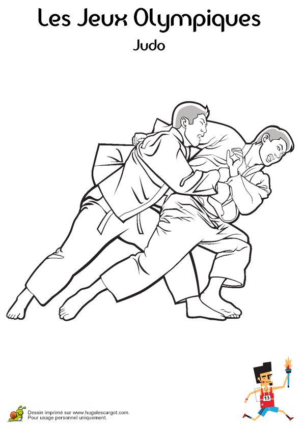 Combat de Judo à colorier