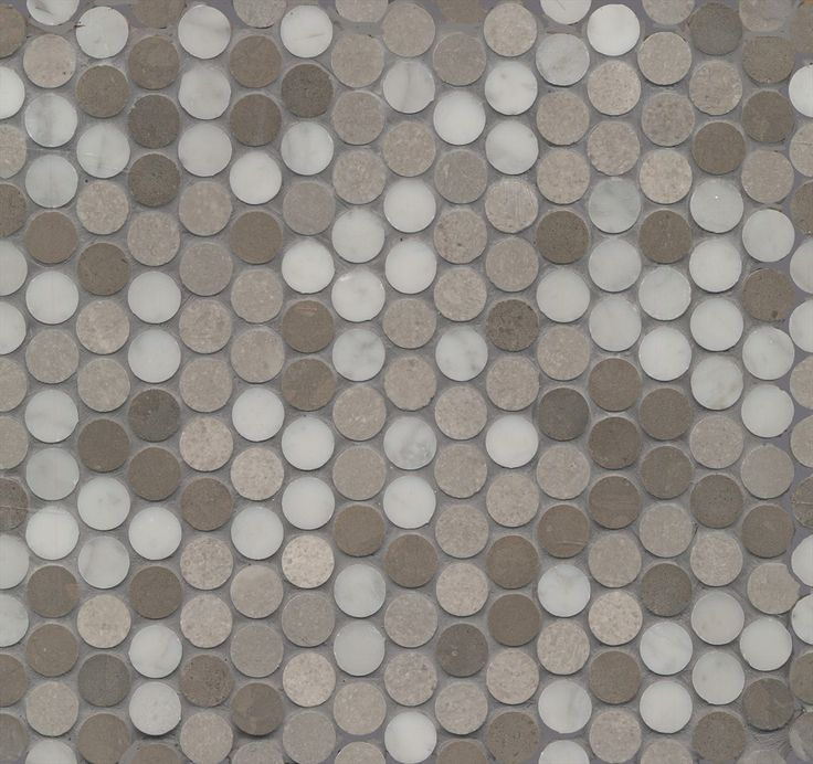 Beaumont Tiles > Mos Penny Round Grey Stone Mix (20) Honed 285x305