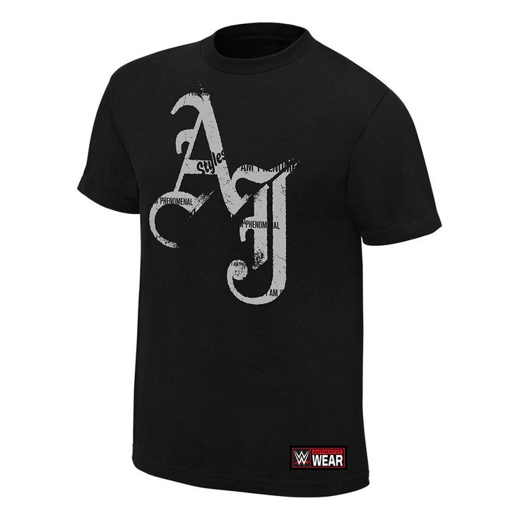 AJ Styles I Am Phenomenal WWE Athentic Mens Black T-shirt - http://bestsellerlist.co.uk/aj-styles-i-am-phenomenal-wwe-athentic-mens-black-t-shirt/