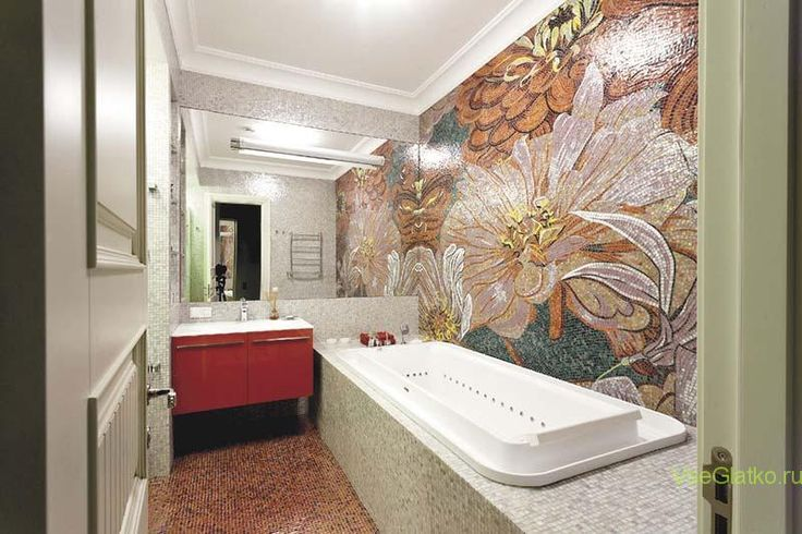 Стиль Фьюжн в интерьере ванной-1 http://vseglatko.ru/смешанные-стили-интерьера/ #стили_интерьера #дизайн_помещений #дизайн_квартир #дизайн_домов #дизайн #смешанные_стили #стили