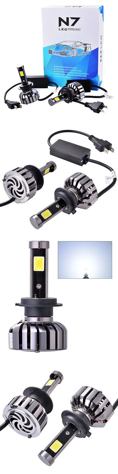 Car Lighting: 2X Led H7 Headlight Conversion Total 80W 9600Lm Cob 6000K Bulbs Waterproof Ld909 BUY IT NOW ONLY: $34.48