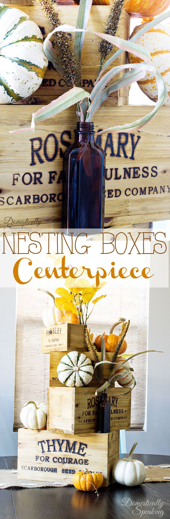 Easy Nesting Boxes Thanksgiving Centerpiece it just takes minutes to make