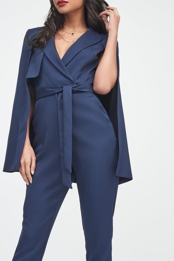 2f527ddac0 Waterfall Jacket Tailored Jumpsuit in Cobalt – Lavish Alice ...