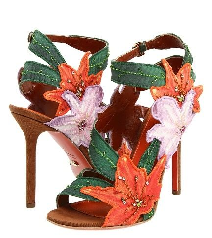Shoes Ill never wear. / Sergio Rossi embellished shoes |Green Heels|