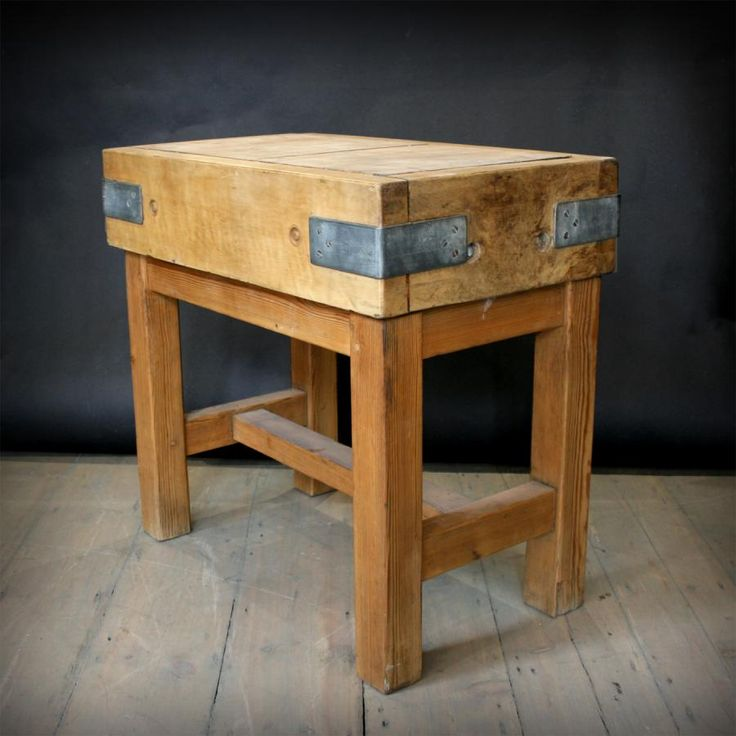 Vintage butcher block For Sale on SalvoWEB from Architectural forum in London [Salvo code