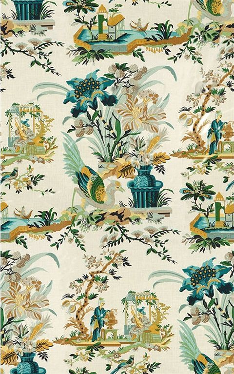 One of My Favorite Interior Design Tricks {it's cheap and easy!} - laurel home  | Brunschwig et Fils Le Lac Document hand-screened Chinoiserie print