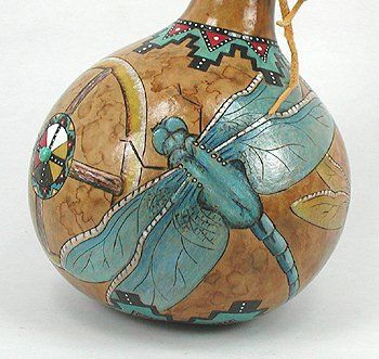Cynthia Whitehawk - Apache Ceremonial Dragonfly Rattle