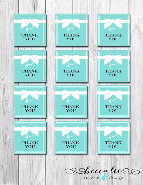 INSTANT DOWNLOAD - Bride & Co Favor Tags - Tiffany Inspired Bridal Shower - DIY - Printable